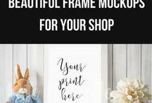Frame Mockup Nursery / Frame Mockups for Nursery Prints. Frame Mockups for Your Etsy Shop.