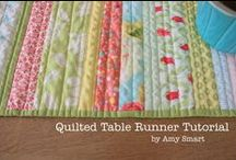 Sew n'Quilt~Tabletoppers / DIY Table accessories; tablerunners, napkins, trivets, carriers, and other table accessories and gifts. / by Pat Beav