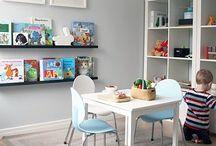 DWELL // playroom / Let's have some fun! Playroom decor, playroom interior design, game room, playroom organization, kids room, kids education.