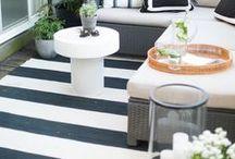 DWELL // outdoor spaces / Outdoor spaces, patio design, outdoor patio decor, outdoor furniture, porch furniture, porch design, outdoor fireplace, patio table, garden.