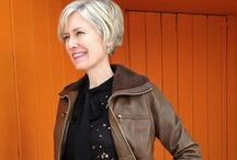 How to wear leather over 40 / Can you wear leather over 40? You certainly can! Here are examples of 40+ women who wear it with style. There are also examples of younger women wearing leather in ways that would look great on women over 40 too! / by 40PlusStyle / Sylvia