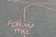 Straßenmalkreide / Draußen: Outdoor-Spiele und kreative Ideen mit Straßenmalkreide.