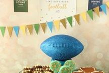 Football / Football, Football party, Football food, Football party food, Football party ideas, Football food appetizers, Football party decorations, Game day food, Game day snacks, Superbowl food ideas, Superbowl party ideas