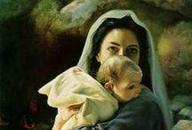 Maria Magdalena et la Vierge Maria
