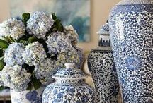 Blue and White decorating / Beautiful Blue and White / by Rosemary Watson-Burritt