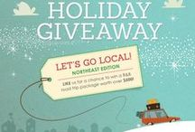 2014 Holiday Giveaway / ENTER our Holiday Giveaway for a chance to win a B&B road trip package worth over $500! Enter here » https://a.pgtb.me/nKsTZr  Stay local with a BedandBreakfast.com Getaway Gift Card® and get there with a Shell Gift Card. Plus, experience local specialties with our regional prizes.