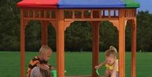 More Fun! / Playhouses, sandboxes, picnic tables, monkeybars, and more! There are lots of ways to have fun in the backyard.
