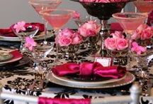 Tablescapes & Settings / different ways to set & arrange your table for a party