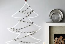 Alternative Christmas tree / Faux christmas trees to decorate your house for the holidays
