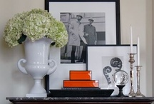 Table Scape + Vignettes / Mantles + Coffee, Library, and Sofa tables / by Designed4 Home