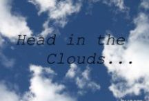 Head in the Clouds / on cloud nine, in 7th heaven, walking on air, spacey, daydreaming, reverie, idleness, quiet, laziness, reflection, study philosophy (Socrates) / by Carolyn