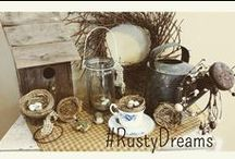 Rusty Dreams Primitives / This stay at home Mom decided to share her love of primitive things and funky old junk! Check out my website: www.rustydreamsprimitives.com