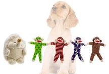 Pet Qwerks Plush Toys / An all time favorite toy for dogs. Pet Qwerks plush toys make cute chattering sounds. Electronic voice!   Squeeze his tummy, hear him chatter.  We hear a lot of stories from pet parents telling us that their doggies carry the toy around like it's baby. So cute!