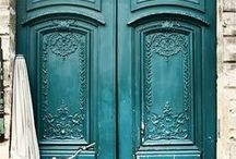 """Architecture: Doors / """"Look on every exit as being an entrance somewhere else.""""  Tom Stoppard / by Begüm"""