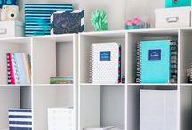 Organization Ideas / Home organization, organized life, organizing tips, office organizing