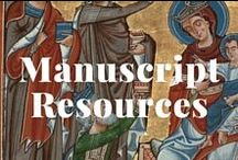 Manuscript Resources / Helpful resources about manuscripts from cultural heritage organizations. / by J. Paul Getty Museum