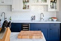 Kitchen & Dining Room ideas / Keywords: interior design, architecture, tile, design, home, color, function, inspiration, island, eat in kitchen, organization, cabinetry, renovation / by Joan Stoltman