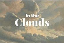 """In the Clouds / """"I bring fresh showers for the thirsting flowers / From the seas and the streams...""""  —Percy Bysshe Shelley, The Cloud / by J. Paul Getty Museum"""