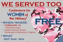 We Served Too Conference / We've teamed up with Challenge America to celebrate women of the military! Military girls are invited to come spend Valentine's Day 2015 with us in Richmond, Virginia! Included will be a day of pampering, including makeovers and hair demos, information about wedding industry careers, and free evening gowns donated by Daymor!   End the day celebrating with your loved one at an evening concert, including special guest celebrity Ivan Ellis!  Register today on Eventbrite: http://bit.ly/1yOFbc3