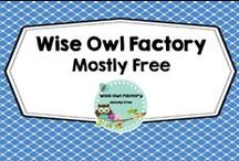 Wise Owl Factory Freebies / mostly free lessons, printables, SMART Board files, free writing, free science, free social studies, free literacy, free math, Pre K-2 / by Carolyn Wilhelm, NBCT, Wise Owl Factory