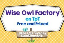 Wise Owl Factory on TpT / This board is for Wise Owl Factory products on TpT both free and priced, 30+ freebies / by Carolyn Wilhelm, NBCT, Wise Owl Factory