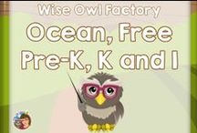 Ocean Pre-K and K Free / This Pinterest board is for free printables, DYI, and informational blog posts for Pre-K and K learners. / by Carolyn Wilhelm, NBCT, Wise Owl Factory