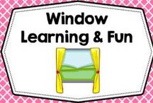 Free + DIY Window Fun / Window fun DIY crafts and activities for Pre-K and K.  Free informational blog posts and photos.  / by Carolyn Wilhelm, NBCT, Wise Owl Factory