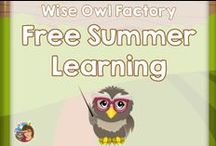 Free Summer Learning and Fun / This Pinterest board is for free summer learning and fun activities for kids and families. / by Carolyn Wilhelm, NBCT, Wise Owl Factory