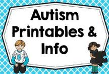 Free Autism + Special Needs Info / Free educational printables for children with autism, as well as informational blog posts and articles. / by Carolyn Wilhelm, NBCT, Wise Owl Factory