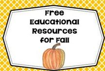 Free Ed Resources for Fall / Free educational resources for fall from Pre-K through elementary grade levels / by Carolyn Wilhelm, NBCT, Wise Owl Factory