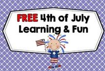 Free 4th of July Learning / Free 4th of July Learning and Fun---educational activities and printables. / by Carolyn Wilhelm, NBCT, Wise Owl Factory