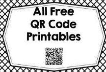 All Free QR Code Ed Printables / All Free QR Code Educational Printables Links to completely free always free QR Code printables, many QR Code to voice printables / by Carolyn Wilhelm, NBCT, Wise Owl Factory
