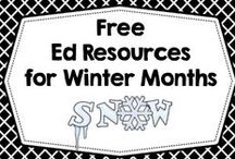 Free Ed Resources for Winter / Free educational resources and printables for winter months (January and February) northern hemisphere. / by Carolyn Wilhelm, NBCT, Wise Owl Factory