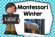 Montessori Winter / Montessori board for winter Montessori and Montessori inspired educational resources and activities / by Carolyn Wilhelm, NBCT, Wise Owl Factory