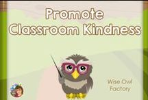 Promote Classroom Kindness / Ideas for promoting kindness and friendships withing the Pre-K through elementary grade level classroom, focus on free, pins selected by Carolyn Wilhelm. / by Carolyn Wilhelm, NBCT, Wise Owl Factory