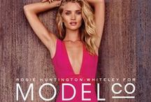 Rosie For ModelCo. / See all the behind-the-scenes images, summer campaign shots and more from ModelCo's new celebrity ambassador,  Rosie Huntington-Whiteley.