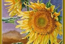 Artistic Sunflowers / Beautiful sunflower art / by Marie Wise