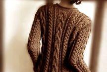 Aran Irish Cables / Prendas, accesorios u otros tejidos de punto con trenzas, especialmente que recreen la tradición de los sweaters irlandeses también llamados Aran o de pescadores.