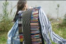 Bufandas / Bufandas en tejido de punto, crochet, tela...
