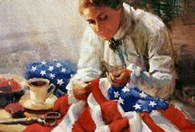 Artistic Patriotism / Art depicting pride in a country through its flag or other symbols, most notably; America.