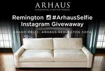 Remington Sofa / Our newest hand-built sofa features pocketed springs and down cushions for a truly versatile design. Stop in any Arhaus store and take an #ArhausSelfie with the Remington Sofa for a chance to win your own (giveaway ends 1/31/16) / by Arhaus