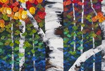 Artistic Trees / Paintings and drawings of trees.