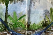 Artistic Travel Sketchbooks / Love these quick studies of places artists have visited!
