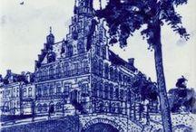 Artistic Blue Delft