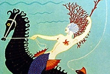 """Mermaid Tales / """"I have heard the mermaids singing, each to each. I do not think that they will sing to me. I have seen them riding seaward on the waves Combing the white hair of the waves blown back When the wind blows the water white and black. We have lingered in the chambers of the sea By sea-girls wreathed with seaweed red and brown...""""  ― T.S. Eliot (The Love Song of J. Alfred Prufrock) / by Jennifer Cameron"""