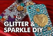 Sparkle & Glitter DIYs / Love Glitter, Rhinestones, and Sequins?  We share the best shimmery DIYs and craft projects around the web that have a touch of glam.
