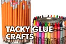 Tacky Glue Crafts / Aleene's Tacky Glue is America's favorite craft glue.  Get inspired by these fun crafts and DIYs using Tacky Glue / by ILoveto Create