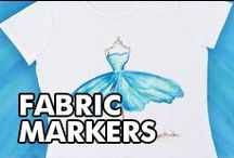 Fabric Marker Projects / LOVE fabric markers? Coloring ideas, hand lettering with fabric markers, coloring book ideas with fabric, and more fabric marker ideas.