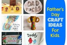 Father's Day Ideas for kidskids / Father's Day Craft ideas, ideas for activities & food.