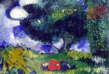 """Chagall / """"In our life there is a single color, as on an artist's palette, which provides the meaning of life. It is the color of love."""" -Marc Chagall / by Jennifer Cameron"""